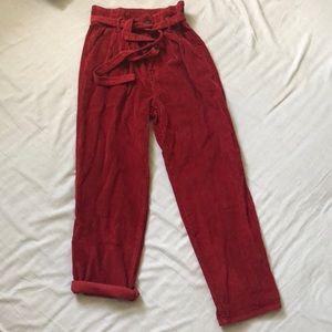 Corduroy ankle length pants
